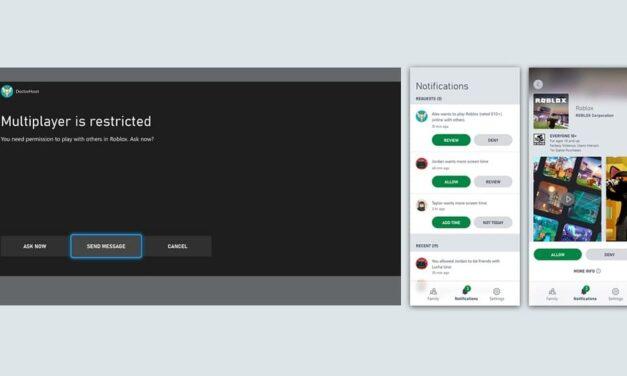 Nueva función para la app Xbox Family Settings: acceso multijugador para cada juego