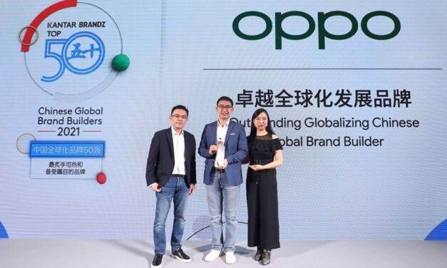 OPPO 6º en el Top 50 del ranking de marcas globales chinas elaborado por KANTAR BrandZ