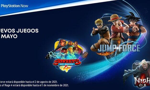 Jump Force, Nioh y Streets of Rage 4 se suman al catálogo de PlayStation Now en mayo
