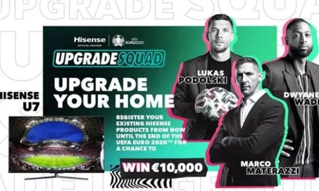Hisense lanza la campaña #UpgradeYourHome para la UEFA EURO 2020 con Dwyane Wade y leyendas del fútbol