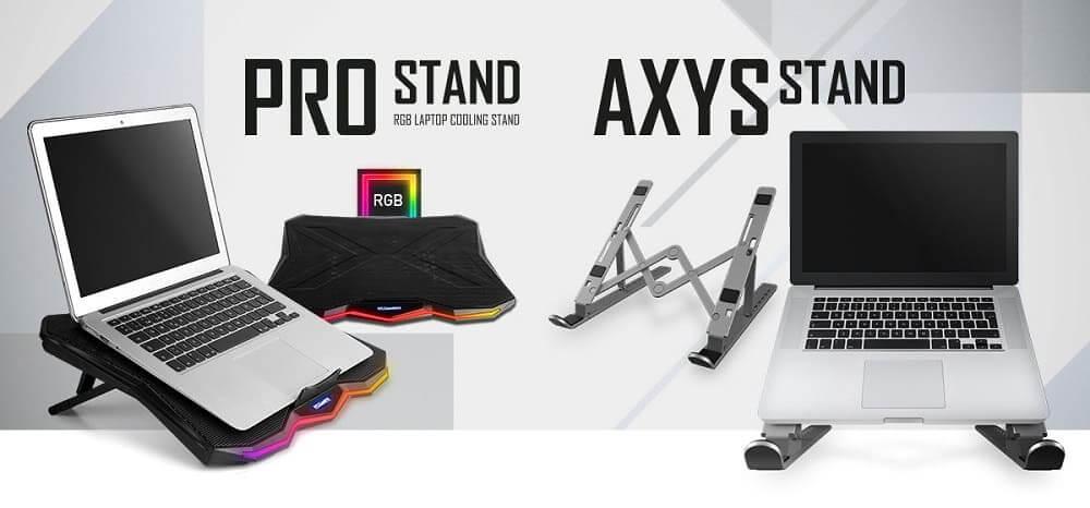 Nox presenta Pro Stand y Axys Stand, dos soportes para portátil