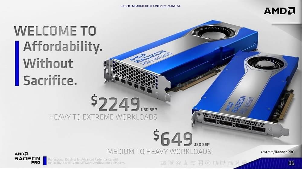 AMD anuncia las gráficas Radeon PRO Serie W6000