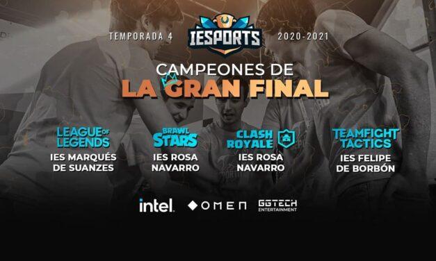 Finaliza la 4ª temporada de la Liga IESports y bate récord en el número de Centros Educativos inscritos