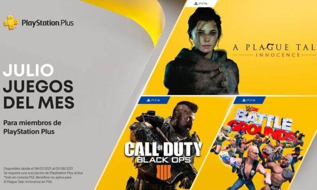 A Plague Tale: Innocence, Call of Duty: Black Ops 4 y WWE 2K Battlegrounds entre los nuevos títulos que se suman a PlayStation Plus en julio