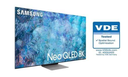 Los televisores Neo QLED de Samsung obtienen la certificación 'Spatial Sound Optimization' de VDE