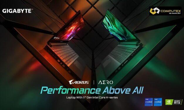 Los portátiles Gigabyte, galardonados en los premios de diseño e innovación Computex 2021