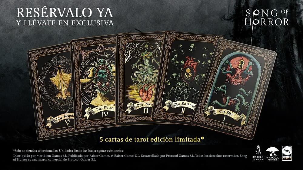 Reserva Song of Horror y llévate un set de cartas del tarot inspiradas en el juego