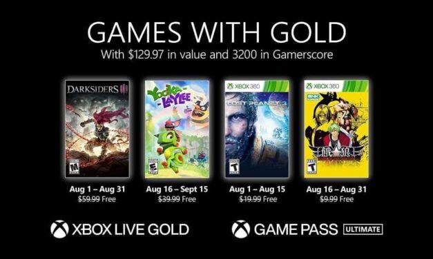 Anunciados los Games with Gold de agosto de 2021