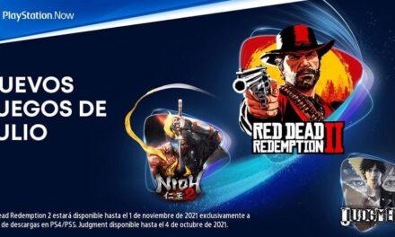 Red Dead Redemption 2 y Nioh 2 destacan entre las novedades del mes de julio para PlayStation Now