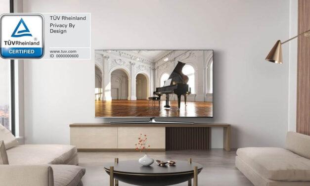 Hisense es el primer fabricante de televisores del mundo en conseguir la certificación TÜV Rheinland Privacy by Design