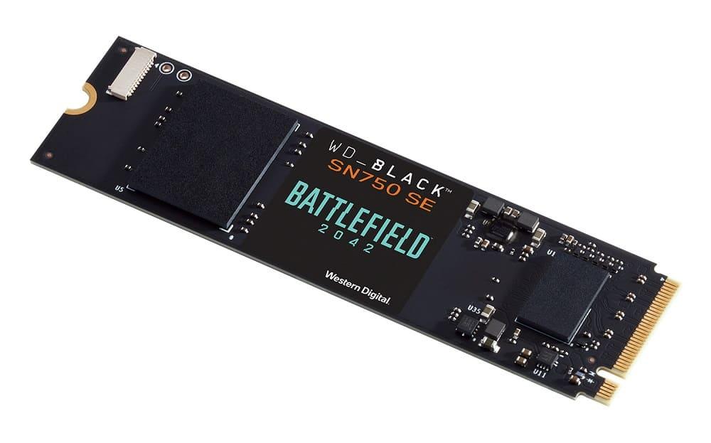 Western Digital lanza un bundle del WD Black SN750 SE NVMe para Battlefield 2042 de Electronic Arts
