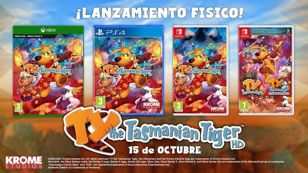 TY the Tasmanian Tiger HD llegará en formato físico para Nintendo Switch, PlayStation 4 y Xbox One