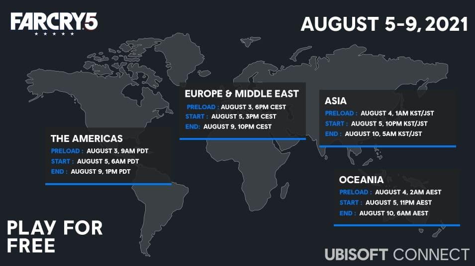 """Far Cry 5 ofrece un """"Free Weekend"""" del 5 al 9 de agosto"""