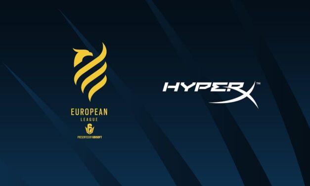 Ubisoft y HyperX anuncian su acuerdo para el Stage 3 y las finales de la European League 2021 de Tom Clancy's Rainbow Six