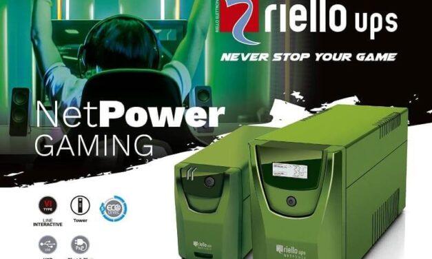 Riello UPS diseña su SAI Net Power Gaming para cubrir las necesidades específicas de los jugadores