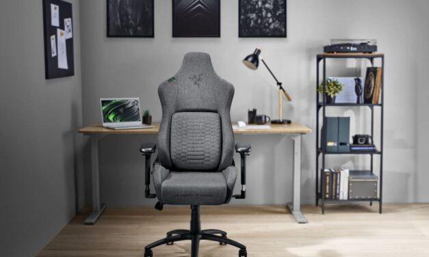 Razer presenta la nueva línea de sillas ergonómicas Razer Iskur de tela