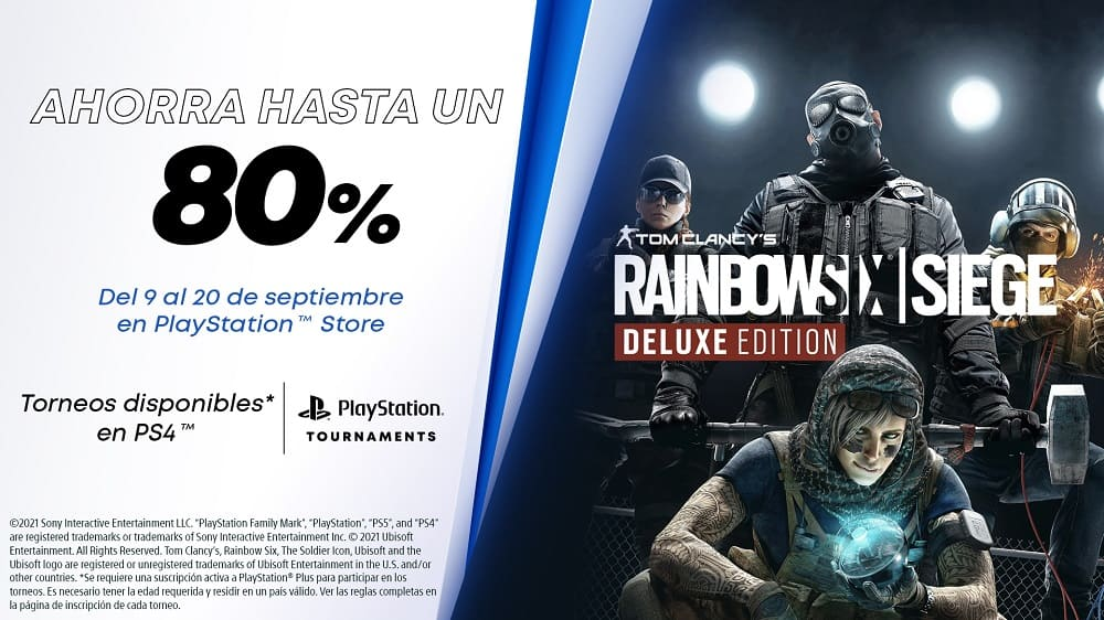 Rainbow Six Siege se une a los PS4 Tournaments: Open Series con hasta un 80% de descuento en PlayStation Store