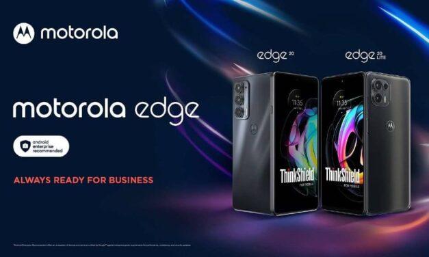 Motorola anuncia la versión para empresas de su nueva familia motorola edge 20, con seguridad de alto nivel y conectividad 5G ultrarrápida