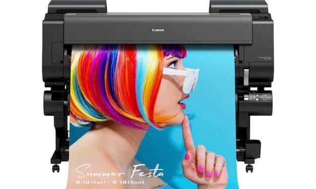 La nueva serie imagePROGRAF GP de Canon se convierte en la primera impresora de gran formato del mundo con tinta pigmentada fluorescente