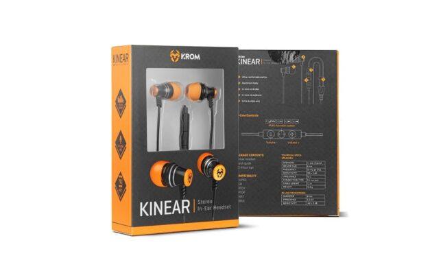 Krom lanza Kinear, unos nuevos auriculares in ear