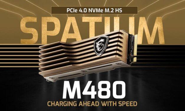 Descubre el más reciente SSD de MSI Spatium M480