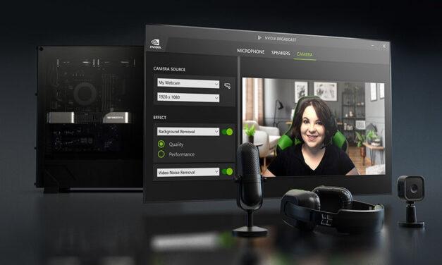 NVIDIA Broadcast recibe la actualización 1.3