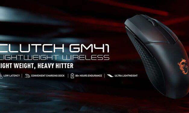 Echa un vistazo al nuevo ratón gaming MSI Clutch GM41 Lightweight Wireless con tecnología NVIDIA Reflex