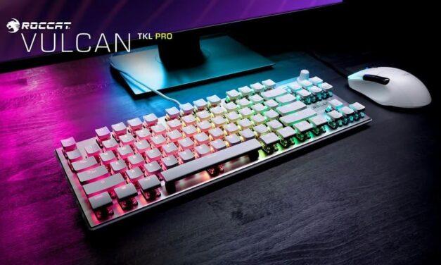Roccat anuncia su premiado teclado Vulcan Pro en color blanco ártico para el 6 de diciembre