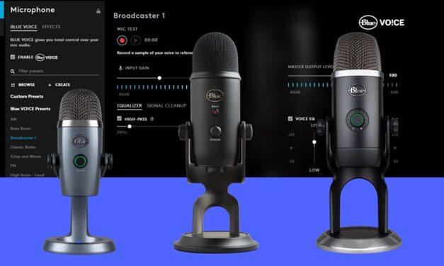 El avanzado software Blue VO!CE ya está disponible para todos los micrófonos USB Blue Yeti, Yeti Nano y Yeti X